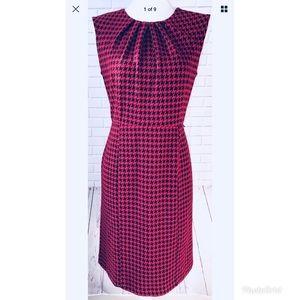 Dana Buchman Pleated-Bust Houndstooth Dress 10